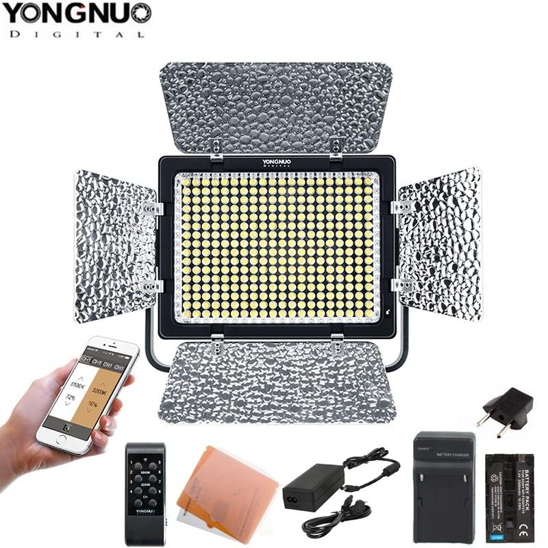 Yongnuo YN320 Professional on camera LED Video Light APP Control 5500K with U type Bracket Stand