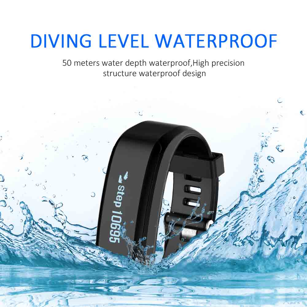 SXR1 Smart Bracelet Wristband Swim Waterproof Watch Fitness Tracker iOS Android Smartband Heart rate Monitor PK