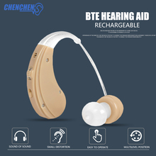 New Hot Hearing Aid Rechargeable Behind Ear Sound Amplifier for Hearing Loss Elderly Deaf Ear Care Hearing Aids недорого