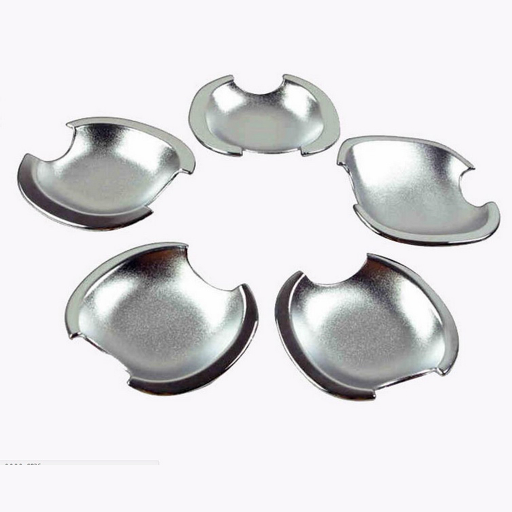 New Car Decor ABS Chrome Door Handle Cup Bowl Trim Cover for <font><b>Toyota</b></font> 5 Door <font><b>RAV4</b></font> <font><b>2006</b></font> 2007 2008 2009 <font><b>2010</b></font> 2011 2012 2013+ image