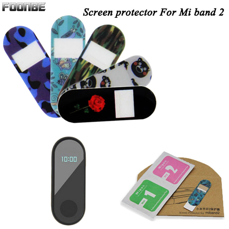 Foonbe Screen Protector Film For Xiaomi For Mi Band 2 Anti-explosure Colorful  Camouflage Screen Protective Film For Miband 2