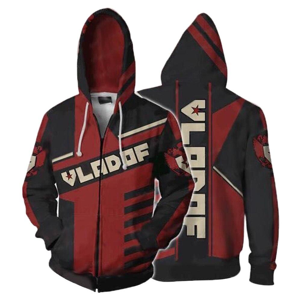Jeu Borderland Hoodies Assassin zéro impression 3D hommes adultes Zipper sweat à capuche manches longues dessin animé manteau Hip Hop veste hauts