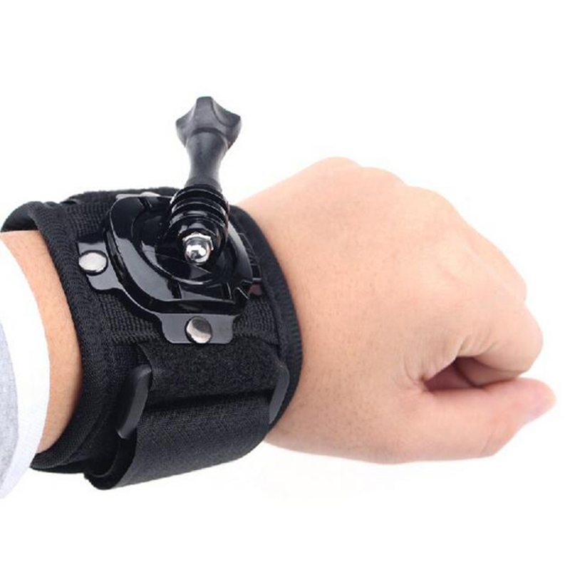360 Degree Rotation Wrist Hand Strap Band Tripod Mount Holder Arm Belt For Gopro Hero 4 SJCAM SJ4000 Xiaomi Yi Action Camera Acc protective pc back case w 360 degree rotation hand strap holder for ipad 3 4 white