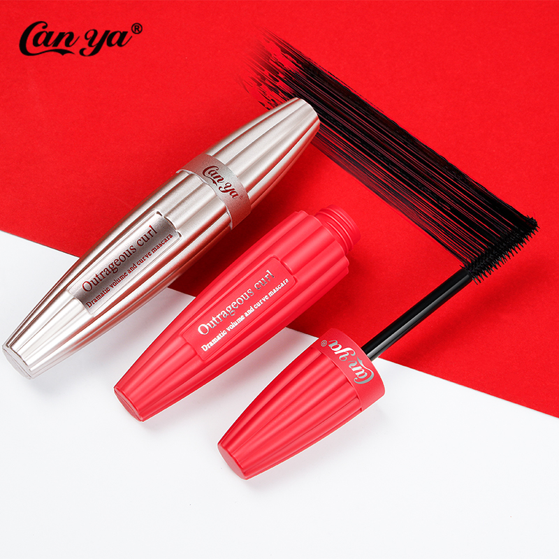 Canya 1PC 2Colors Length Extension Curling Thick Eyelash Black Mascara Waterproof Makeup Cosmetics 3d Mascara For Charm Eyes