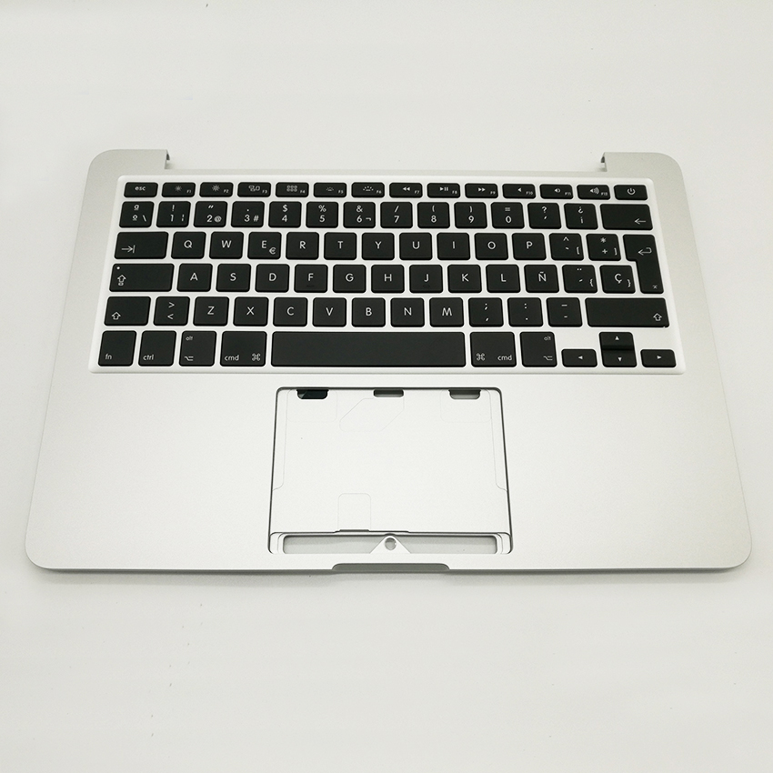 New TopCase Top Case Palmrest with Spain Spanish Keyboard For MacBook Pro Retina 13 A1502 2013 2014 Years for macbook pro retina 13 a1502 topcase with keyboard upper top case palmrest us layout late 2013 mid 2014 661 8154
