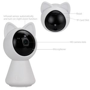 Image 4 - KONLEN واي فاي سحابة كاميرا IP 1080P 720P HD السيارات تتبع لاسلكي المنزل CCTV الأمن مربية الطفل كام عموم إمالة الأشعة تحت الحمراء P2P بطاقة SD