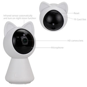 Image 4 - KONLEN WIFI Cloud IP Camera 1080P 720P HD Auto Tracking Wireless Home CCTV Security Nanny Baby Cam Pan Tilt Infrared P2P SD Card