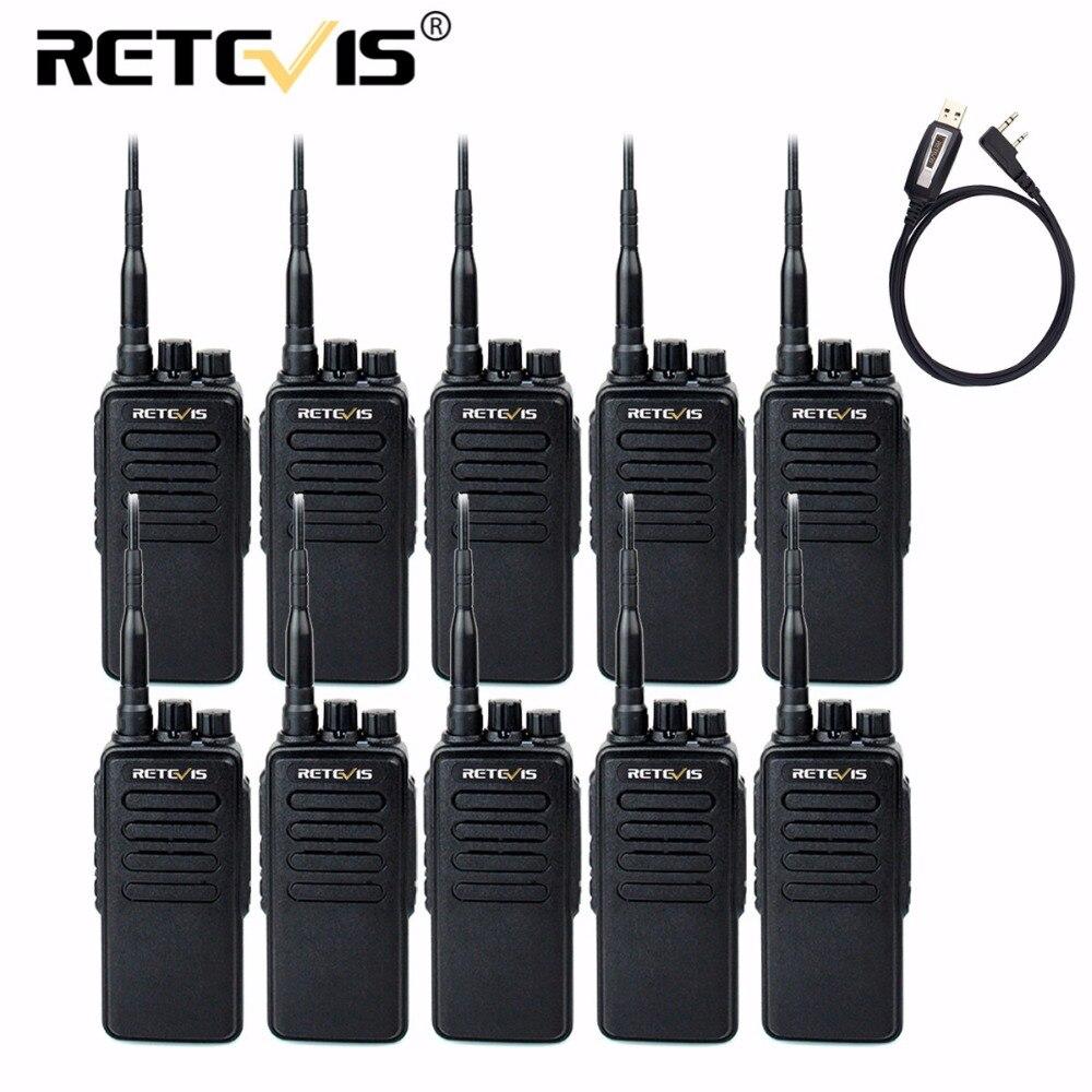 10 pcs 10 w Talkie-walkie Retevis RT1 VHF ou UHF) 16CH 3000 mah VOX Scrambler Voyage/Randonnée/Chasse Longue Portée Radio Bidirectionnelle
