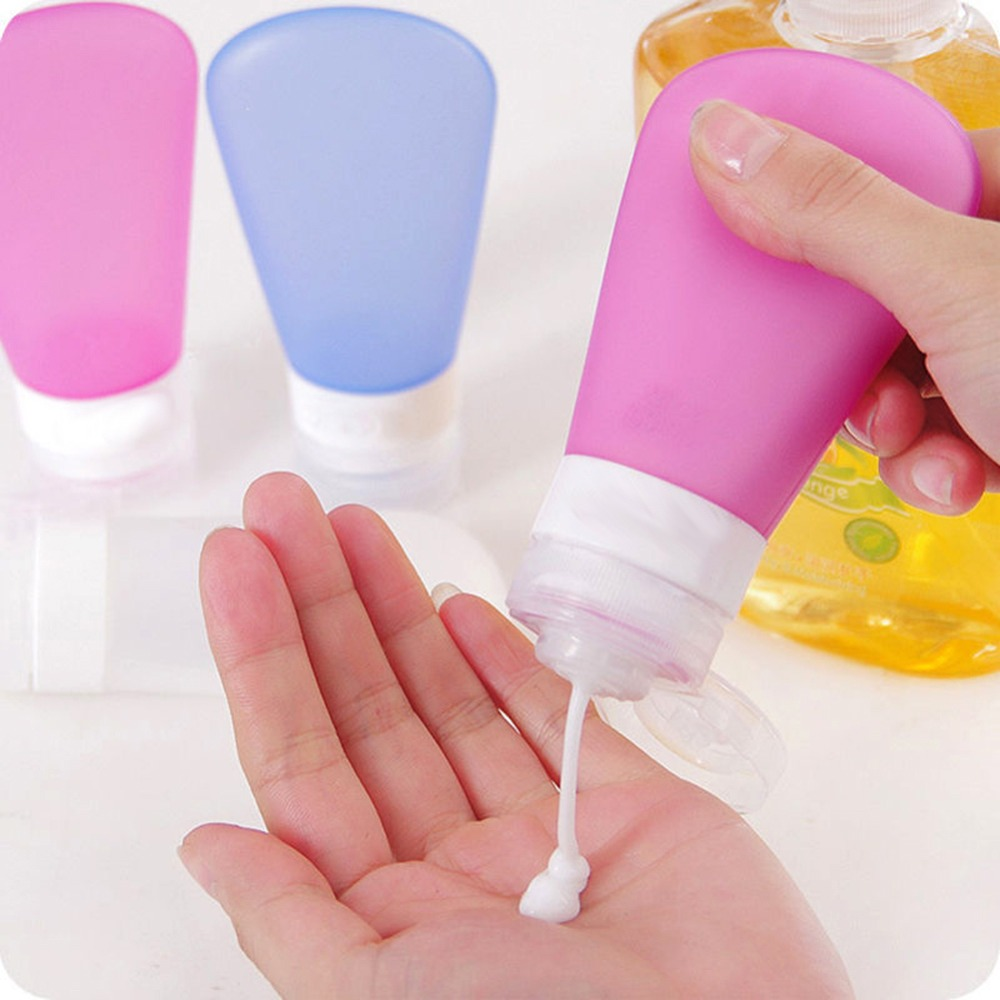 3 Pcs/Set Travel Silicone Bottle Skin Care Shower Gel Lotion Spray Bottles Tube Perfume Cosmetics Shampoo Containers Squeeze Kit  недорого