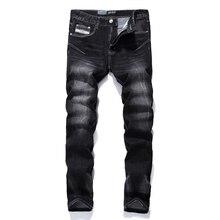 Бренд Для Мужчин's Джинсы masculino высокое качество mid полосой Slim Fit Stretch черные джинсы Uomo опрятный дизайнер джинсовые обтягивающие джинсы Для мужчин 702