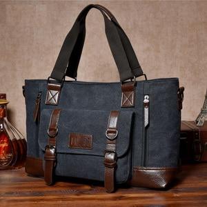 Image 5 - حقيبة قماش للرجال من مانجيهونغ حقيبة مربعة للأعمال ذات سعة كبيرة حقيبة ساعي البريد للكتف غير رسمية