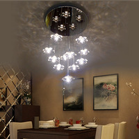 Chandelier Lighting Flower Lamp Circular Crystal Lights Modern Contemporary Dining Room Ceiling Chandeliers Romantic Living