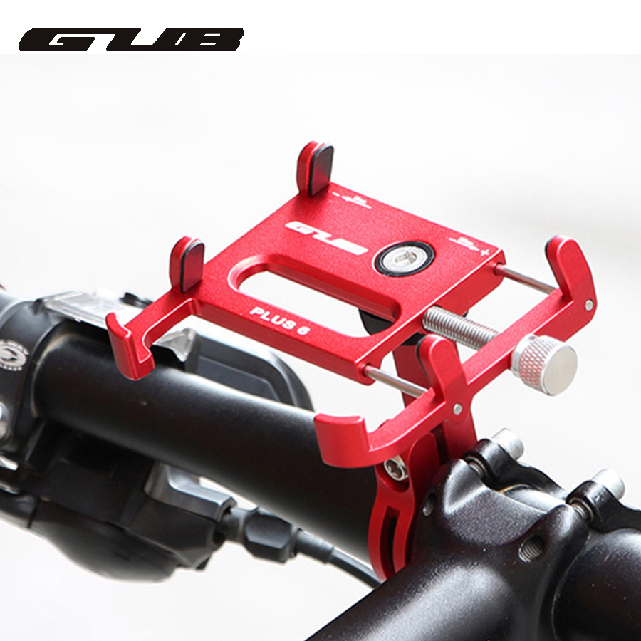 GUB aluminum Rotating bicycle bike phone holder shockproof MTB bike motorcycle GPS stand mount for 22.2/25.4/31.8mm Handlebar handlebar mount bicycle