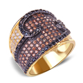 DC1989 Bridal Wedding Band Ring 17 mm Wide Rhodium or Gold Plated Multi-colors Synthetic Cubic Zirconia Rings Sizes 6, 7, 8, 9