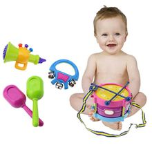 5pcs Children Drum Rattles Toy Educational Game Instrument Assembly Toy  YJS Dropship fishing game toy set music rotating board 4 fishing poles game for children yjs dropship
