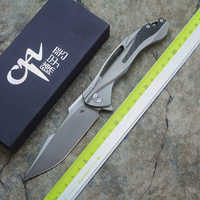 CH3519 Folding Knife Ball Bearing S35VN Blade TC4 Titanium + Carbon Handle Fiber Outdoor Camping Multipurpose Hunting EDC tool