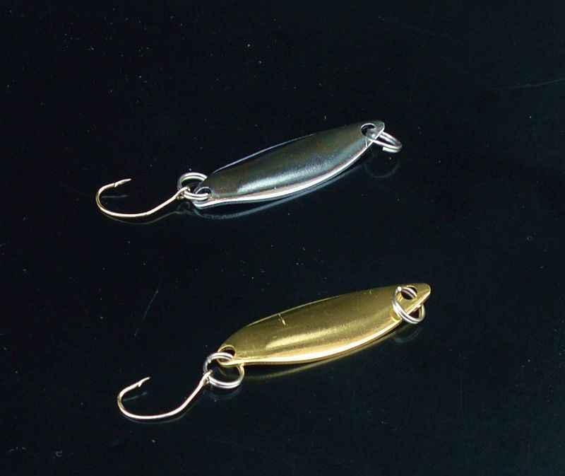 Рыболовные приманки лист ивы Ложка 2 г один крючок чуб бар рыбы высокой яркости Золотой Серебряный Лот 4 шт.