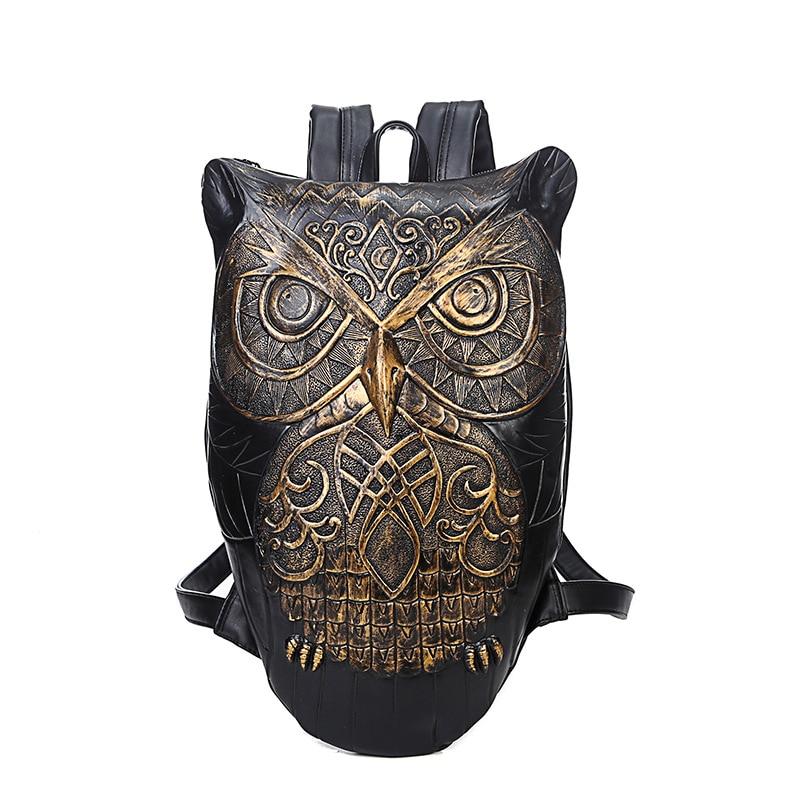 ФОТО 2016 Stylish Newest Women Backpack PU Leather Owl Backpack Female Hot Sale Women Bag