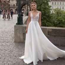Verngo Simple White Evening Dress 2019 Formal Women Elegant V-Neck Vestido Longo Festa