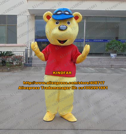 Cartoon Hat Character Yellow Costume Mascot Mascotte Blue Bear Quiet W9EHIbe2YD