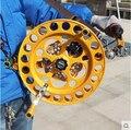 O envio gratuito de alta qualidade 36 cm aço pipa roda de liga de magnésio grande carretel de pipa papagaio do poder de freio a disco para adultos águia delta