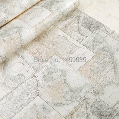 Aliexpress comprar world map wallpaper rollo para nios tienda world map wallpaper rollo para nios tienda de ropa dormitorio luz azul beige gumiabroncs Images