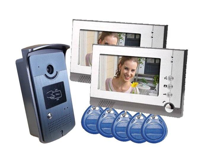 freeshipping by DHL font b Video b font Door Phone intercoms interfone para casa maison font