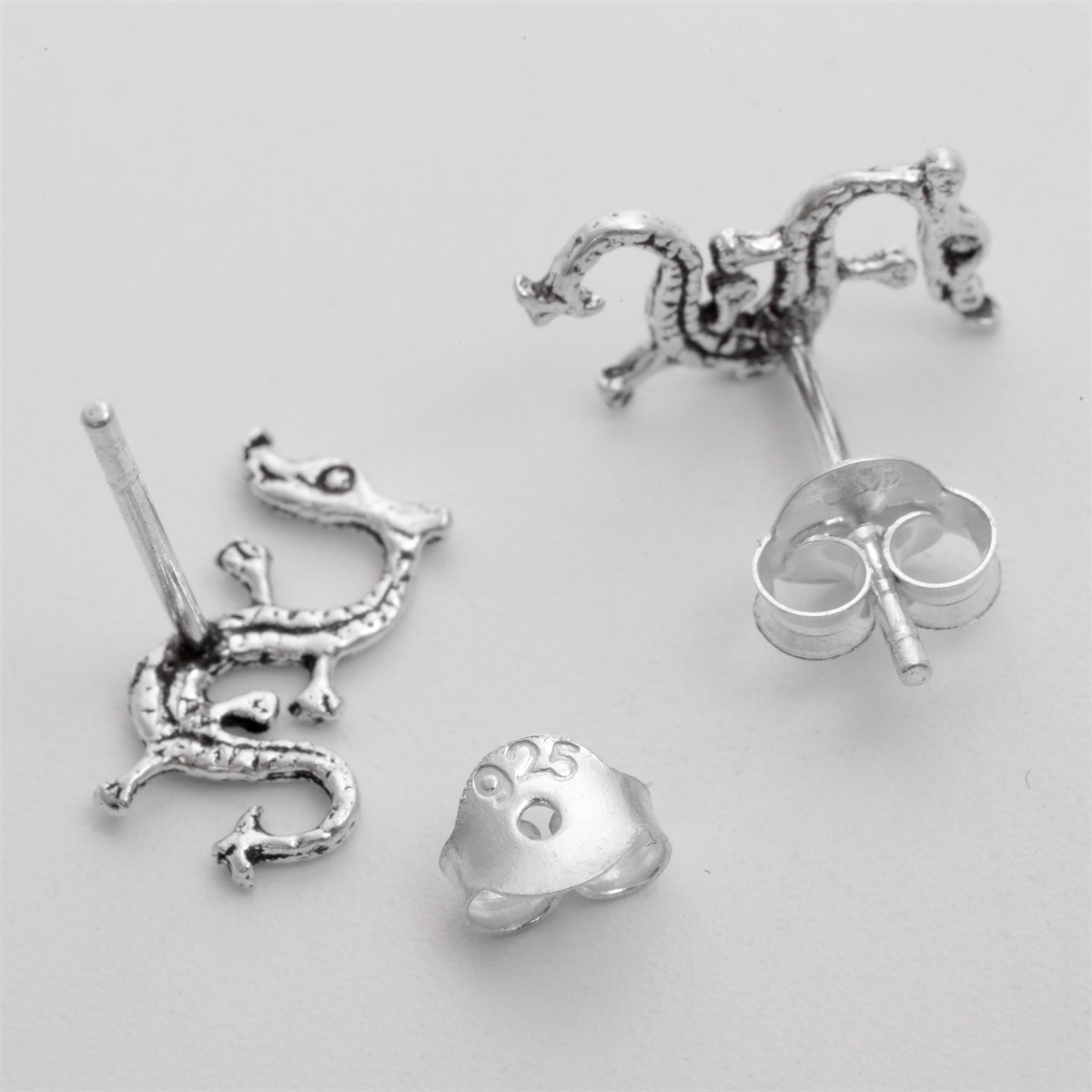 US $4.99 |YACQ 925 Sterling Silver Dragon Stud Earrings Halloween Party  Fine Jewelry Gift for Women Daughter Girls Dropshipping CE159-in Earrings  from ...