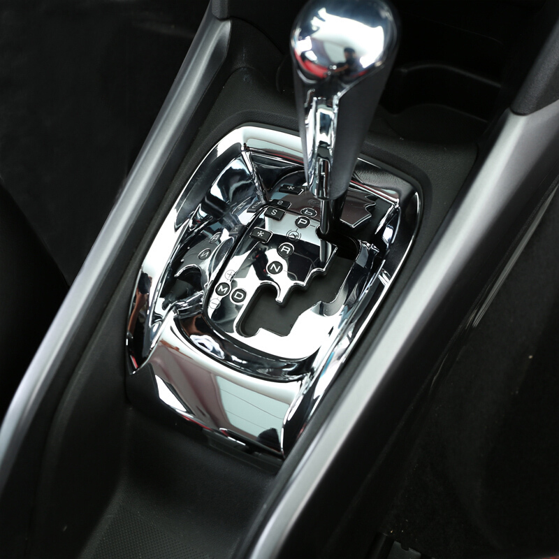 ABS Chrome For 2014 2017 Peugeot 2008 Accessories Car gear shift knob Console engine start Control button frame panel Cover Trim