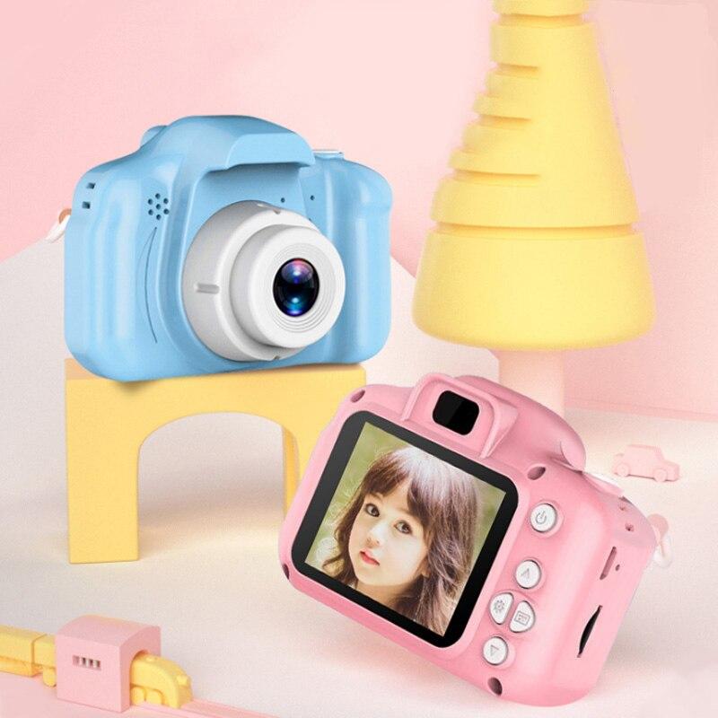 Hot Kids HD Digital Camera Kids Shockproof Camera Silicone Soft Cover Photography Mini SLR High Quality HD Cartoon Camera