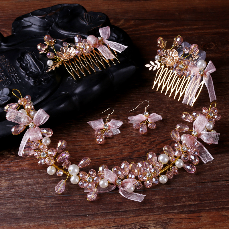 TUANMING New Fashion Women font b Jewelry b font Handmade Pearl Charm font b Hair b