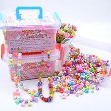 1000 шт DIY игрушка с бисером ручной работы с коробкой для хранения креативная девочка ювелирный браслет для изготовления ювелирных изделий игрушки развивающий подарок для детей