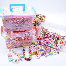 1000 pçs diy artesanal frisado brinquedo com caixa de armazenamento criativo menina jóias pulseira fazer jóias brinquedos educativos presente das crianças