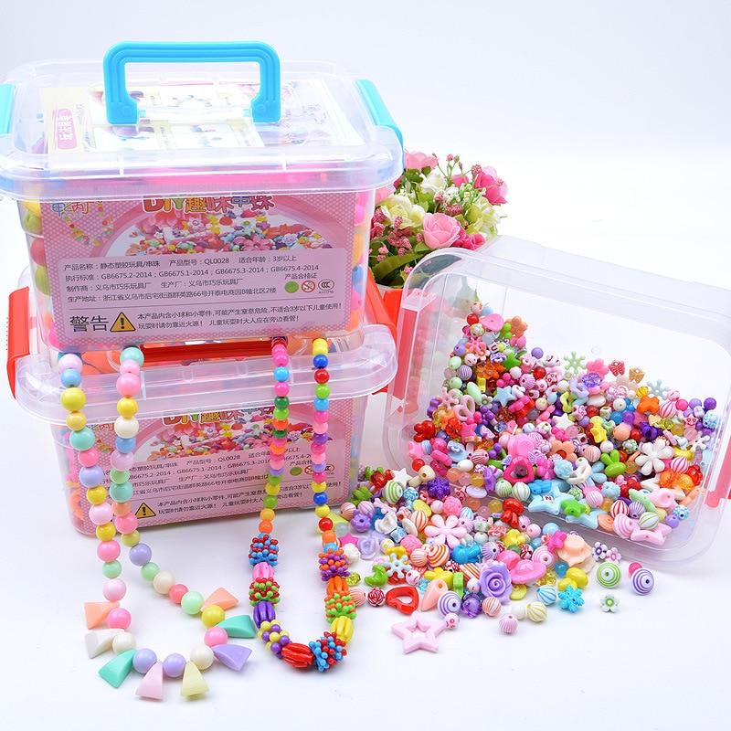 1000Pcs DIY Handmade Beaded Toy With Storage Box Creative Girl Jewelry Bracelet Jewelry Making Toys Educational Children Gift