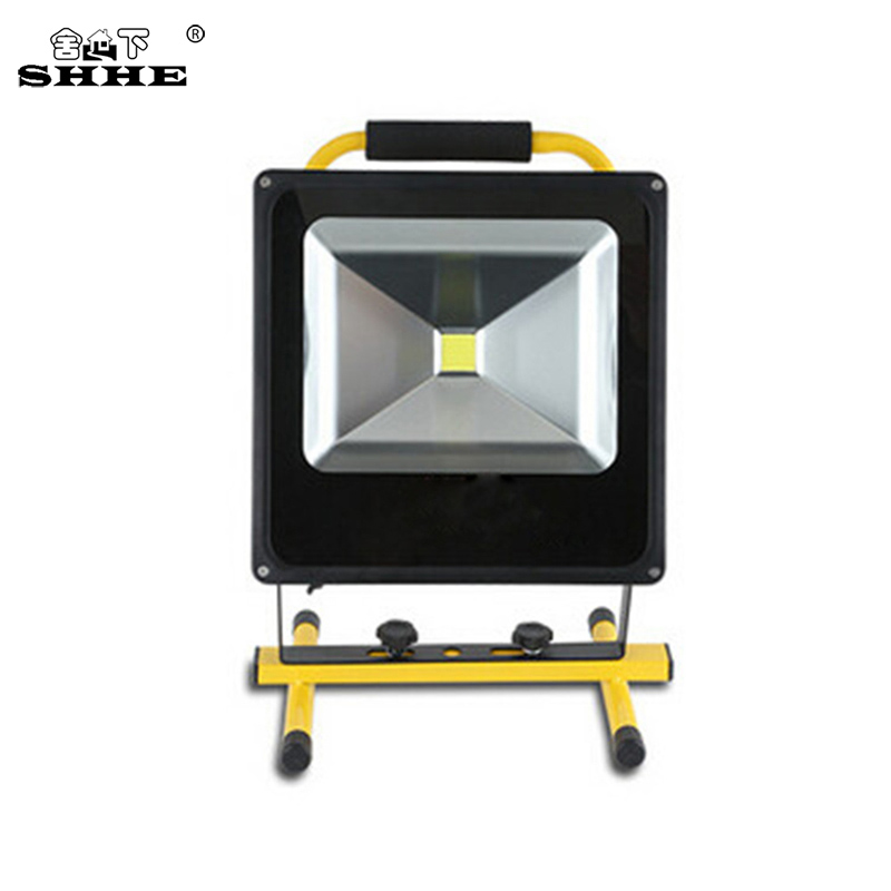 10W Rechargeable Led Flood Lights Spotlight IP65 Portable Work Light Security Emergency Lights With Stand