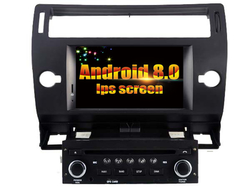 Android IPS Screen Auto Stereo For CITROEN C4 (Black, Silver Frame) car dvd player GPS Bluetooth Radio device stereo Navi screenshot