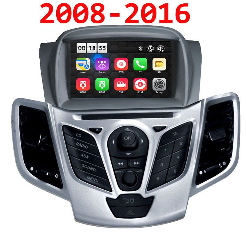 7 Car DVD for Ford Fiesta 2008 2009 2010 2012 2013 2014 2015 2016 DVD GPS navigation stereo with Bluetooth Radio free map
