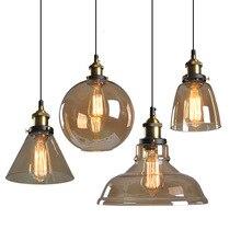 Lampa Szklana Wisząca Retro Edison
