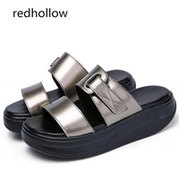 Summer Women Sandals Wedges Sandals Beach Slip On Sandals Slippers Ladies Comfortable Platform Sandals Open Toe Casual Shoes