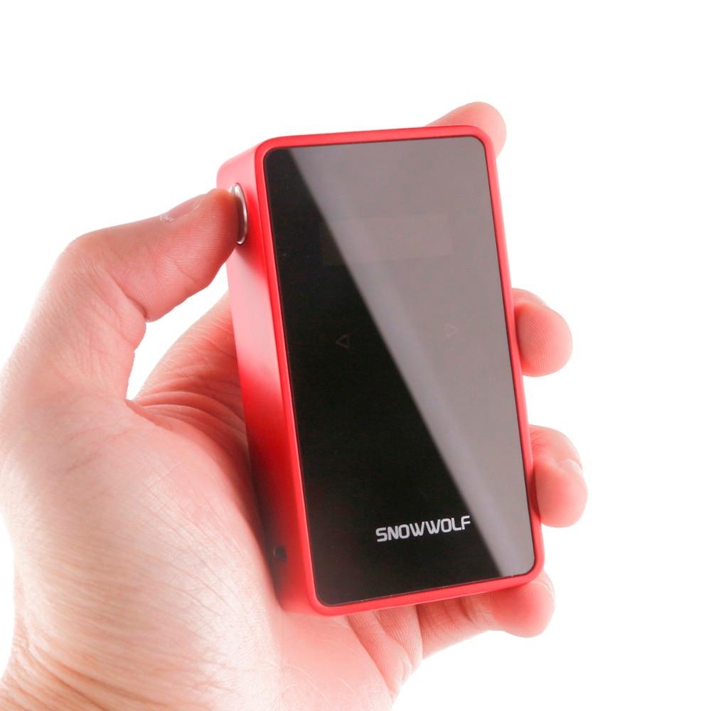 Original Snowwolf 200 W Plus C Mods de Cigarette électronique 235 W TC boîte Mod pour 510 fil atomiseur 0.9 pouces écran tactile Vape Mod