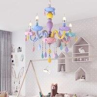 DX цвет ful хрустальная люстра Макарон Droplight детей спальня лампа творческий Фэнтези светильник пятнистости стекло блеск