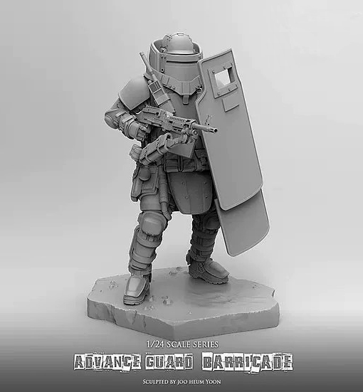 1/24 75mm resin figure soldiers Avant Garde Reloading Shield Machine Gunner - Defender  Unpainted and  unassembled1/24 75mm resin figure soldiers Avant Garde Reloading Shield Machine Gunner - Defender  Unpainted and  unassembled