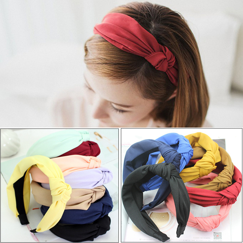 Learned Solid Twisted Knotted Headband For Women Lady Cross Hair Bands Wide Elastic Turban Girls Hair Hoop Headwraps Hair Accessories Girl's Hair Accessories Apparel Accessories
