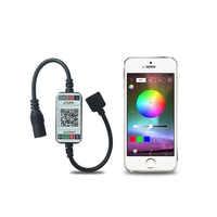 DC 12V 24V RGB Led Controller APP Bluetooth RGB Music Controller For Led Strip Light 5050 4 Pin Mini RGB Controller 5V-24V