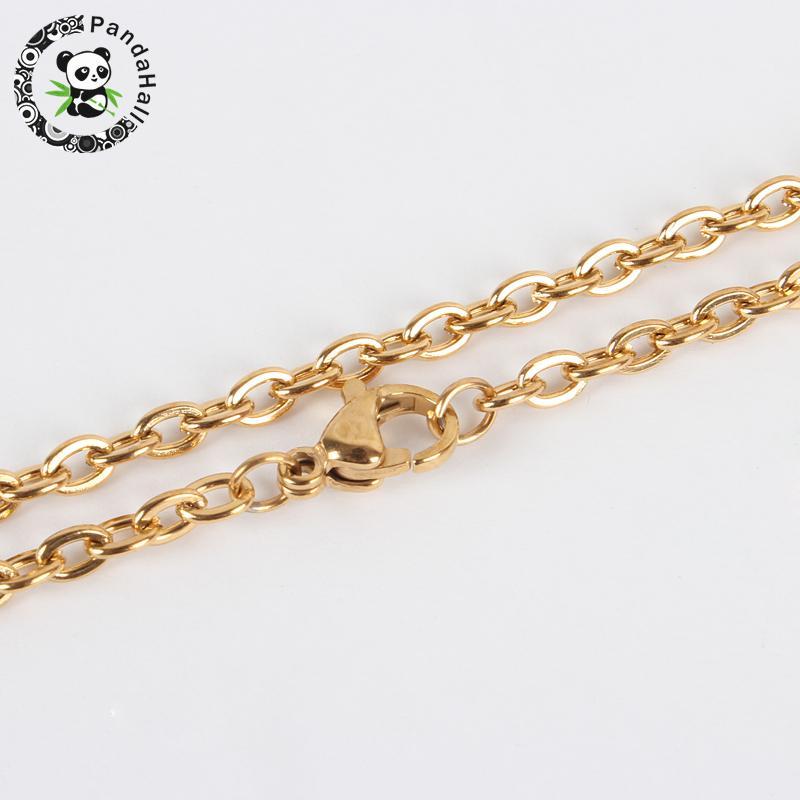 29.5 (74.9 см) крест цепи 304 Нержавеющаясталь кабель из металла DIY цепи Цепочки и ожерелья задатки, с Омар Коготь застежками, покрытие вакуум