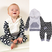 Autumn Newborn Baby Boy Clothes Set Hoodies Sweatshirt+Pants Trousers Outfits