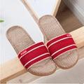 2017 New Fashion Spring Summer Autumn Home Linen Slippers Women Indoor\ Floor Non-slip Beach Slides Flat Shoes Girls Gift