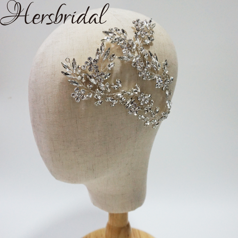 Luxury Crystal Bridal Hair Vine Headband Handmade Wedding Headpiece Stunning Party Hair Jewelry For BridesLuxury Crystal Bridal Hair Vine Headband Handmade Wedding Headpiece Stunning Party Hair Jewelry For Brides