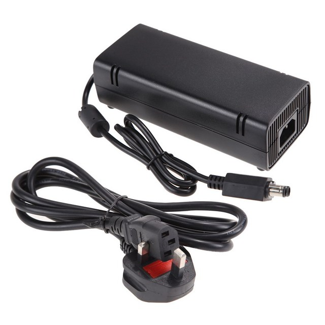 UK Plug 100-240V 135W AC Power Supply Charger Game Console Home Wall Charging Cable Adapter for Xbox 360 S Slim Brick