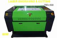 60W CO2 LASER ENGRAVER 700x500 LASER ENGRAVING MACHINE KH7050-60W USB PORT WOODWORKING/CRAFTS USB first